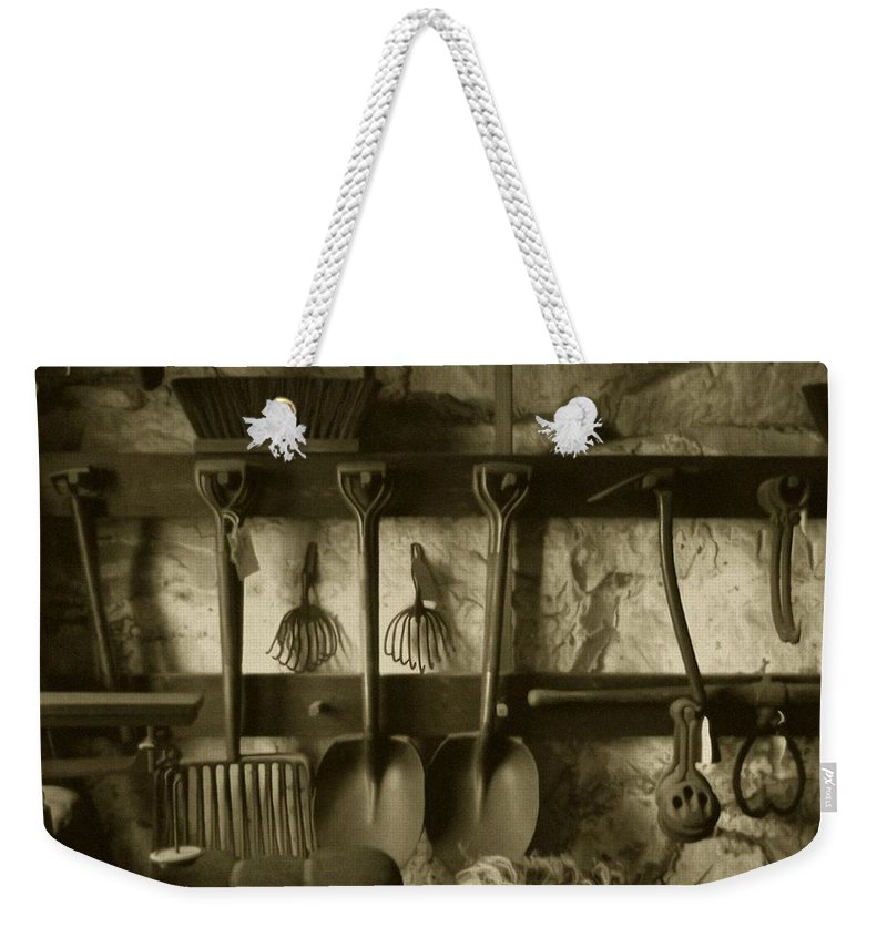 Farming Weekender Tote Bag featuring the photograph The Farmer's Toolshed by RC DeWinter