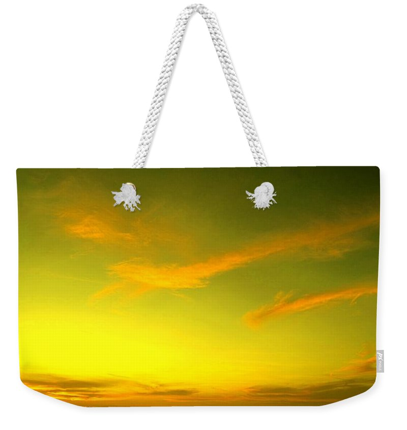 Sunset Weekender Tote Bag featuring the photograph The Final Light Is Gold by Ian MacDonald