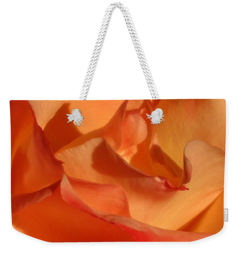 Rose Weekender Tote Bag featuring the photograph The Final Rose Of Summer by Marla McFall