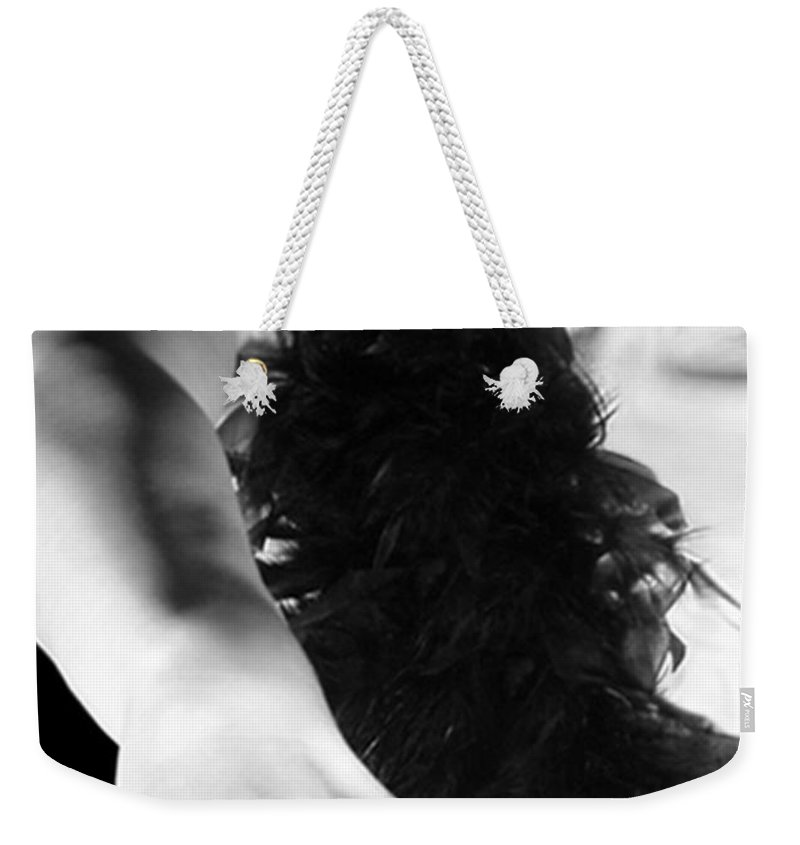 Artsy Weekender Tote Bag featuring the photograph The Fire Within - Self Portrait by Jaeda DeWalt