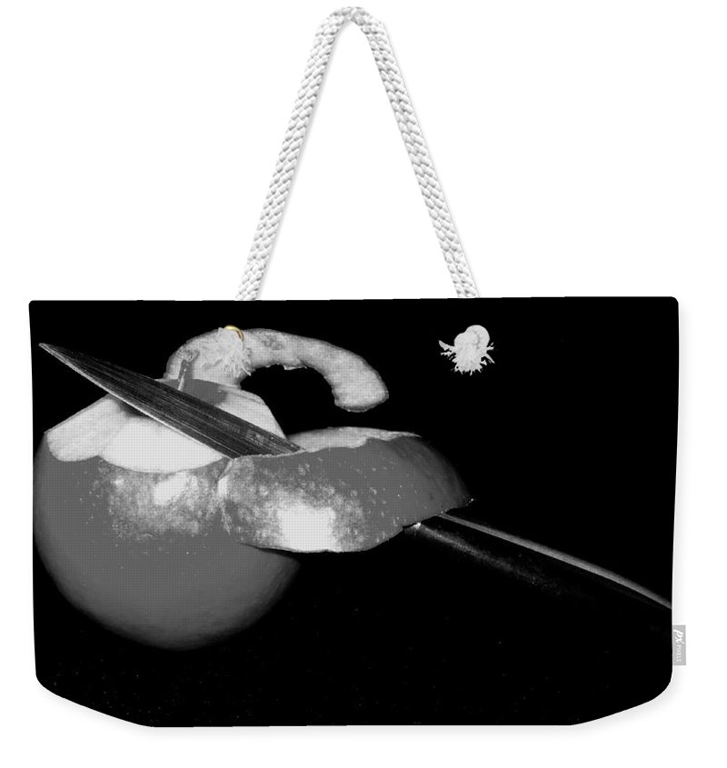 Apple Weekender Tote Bag featuring the photograph The First Cut by Ian MacDonald