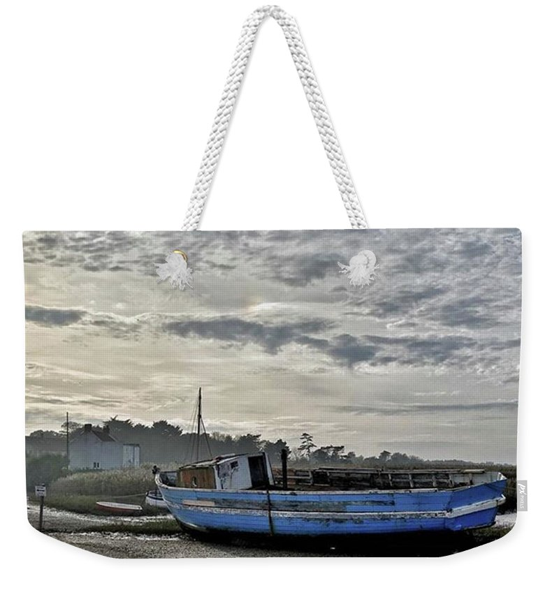 Beautiful Weekender Tote Bag featuring the photograph The Fixer-upper, Brancaster Staithe by John Edwards