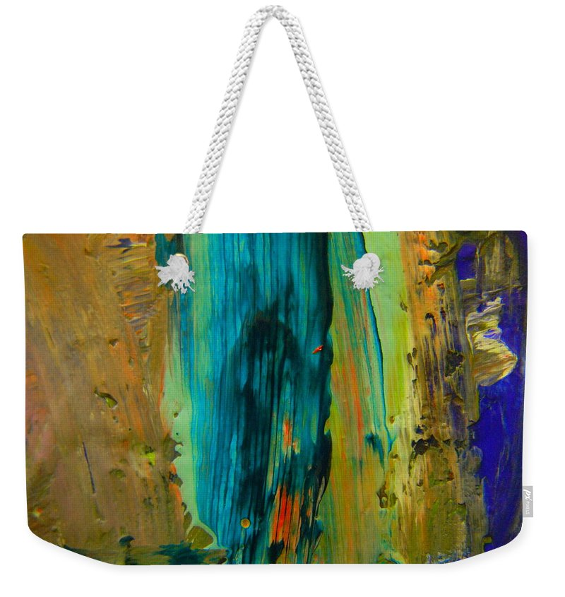 Flair Weekender Tote Bag featuring the photograph The Flair Of The Flame Abstract by Jeff Swan