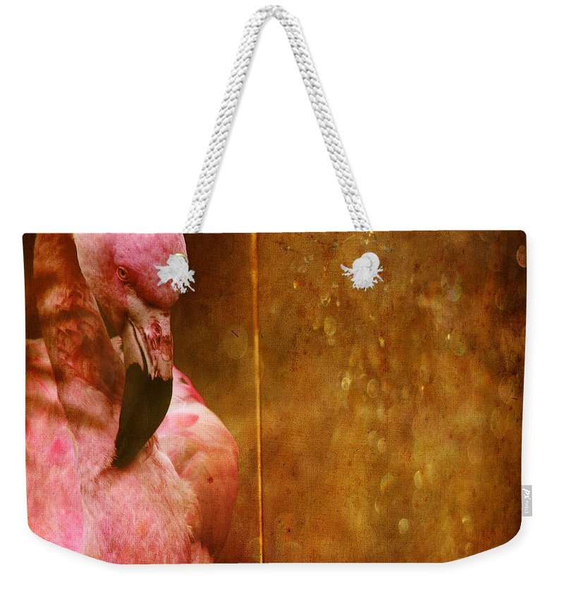 Flamingo Weekender Tote Bag featuring the photograph The Flamingo by Angel Tarantella