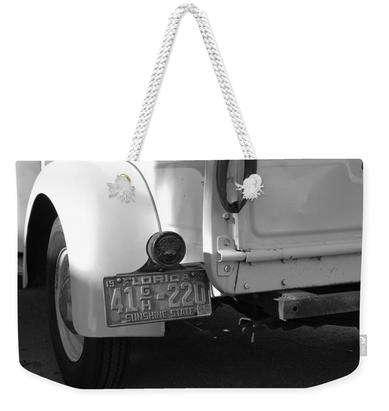 Black And White Weekender Tote Bag featuring the photograph The Florida Dodge by Rob Hans