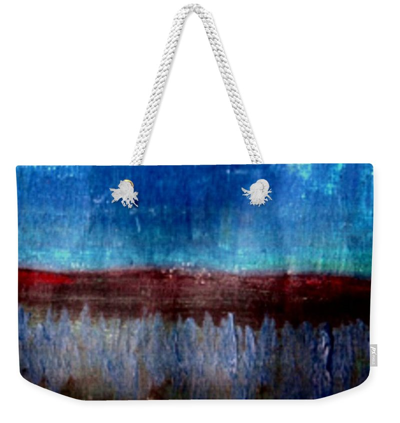 Flowers Weekender Tote Bag featuring the painting The Flower Valley by Pepita Selles
