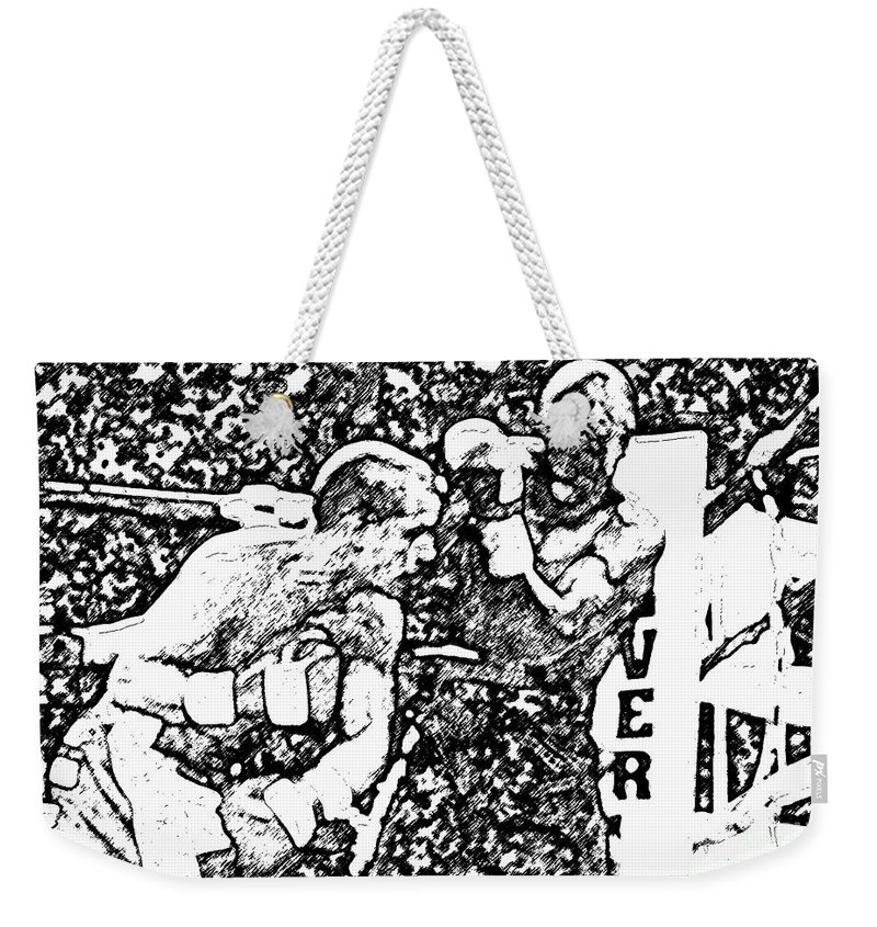 Prize Fighting.boxing Weekender Tote Bag featuring the photograph The Follow Through by David Lee Thompson