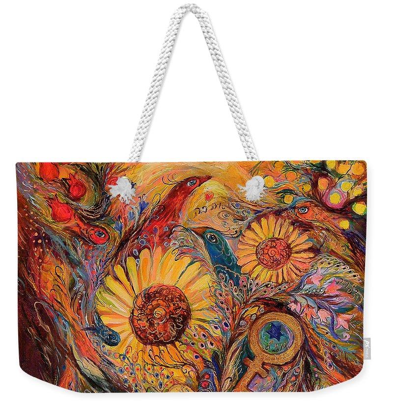 Original Weekender Tote Bag featuring the painting The Forerunner by Elena Kotliarker