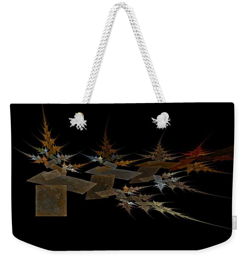 Digital Painting Weekender Tote Bag featuring the digital art The Forest Dark And Deep by Jackie Mueller-Jones