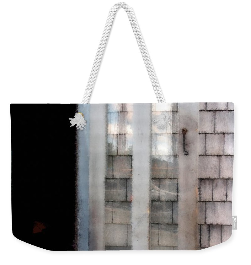 Door Weekender Tote Bag featuring the painting The Forge And The Ship by RC DeWinter