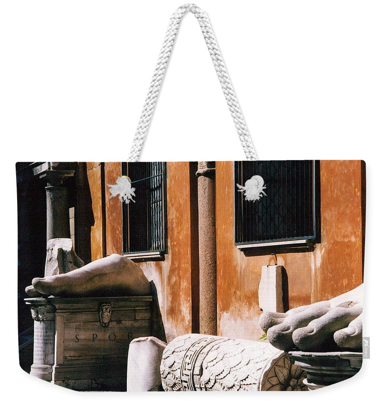 Italy Weekender Tote Bag featuring the photograph The Forum Photograph by Kimberly Walker