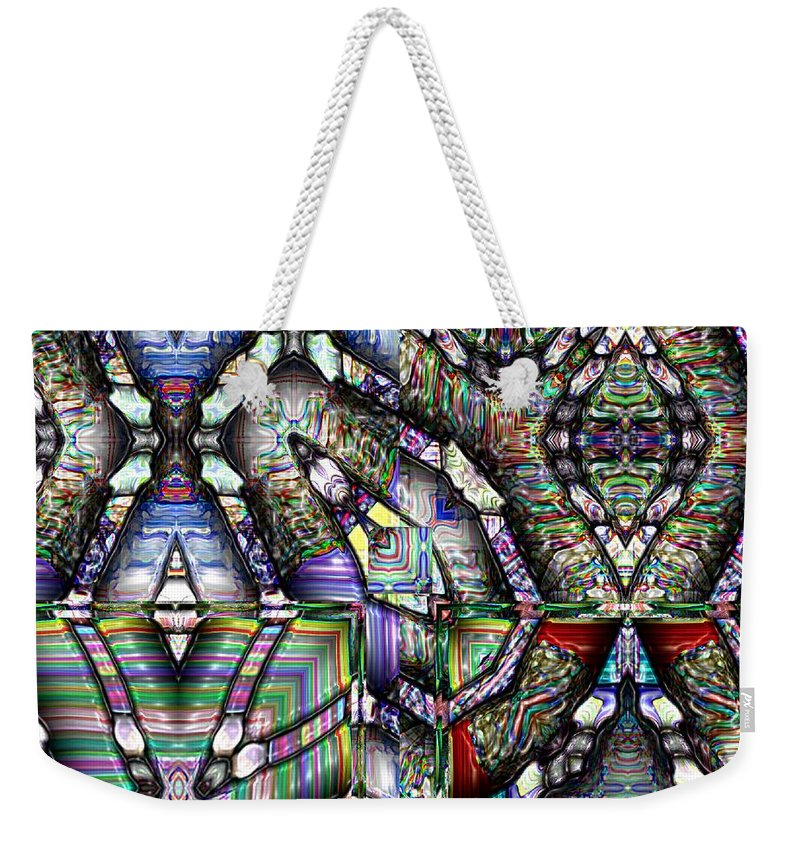 Abstract Weekender Tote Bag featuring the painting The Four Horsemen Of The Apocalypse by RC deWinter