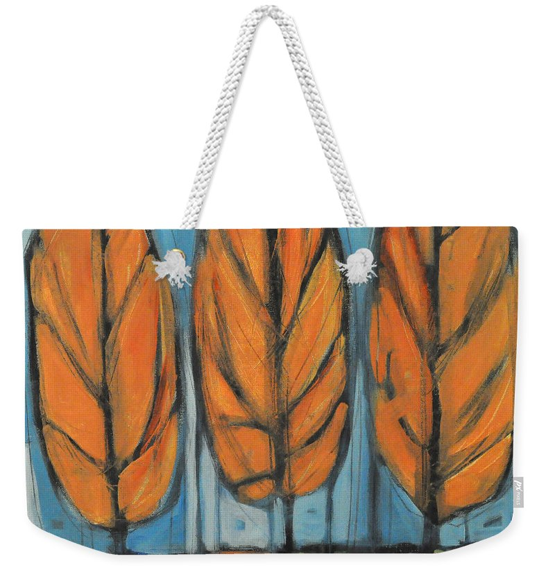 Trees Weekender Tote Bag featuring the painting The Four Seasons - Fall by Tim Nyberg