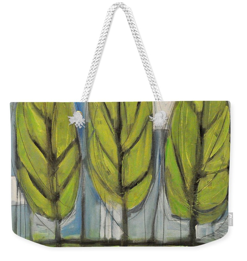 Trees Weekender Tote Bag featuring the painting the Four Seasons - spring by Tim Nyberg