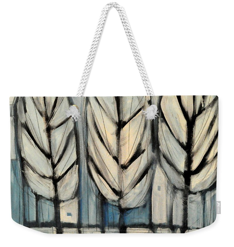Trees Weekender Tote Bag featuring the painting The Four Seasons - Winter by Tim Nyberg