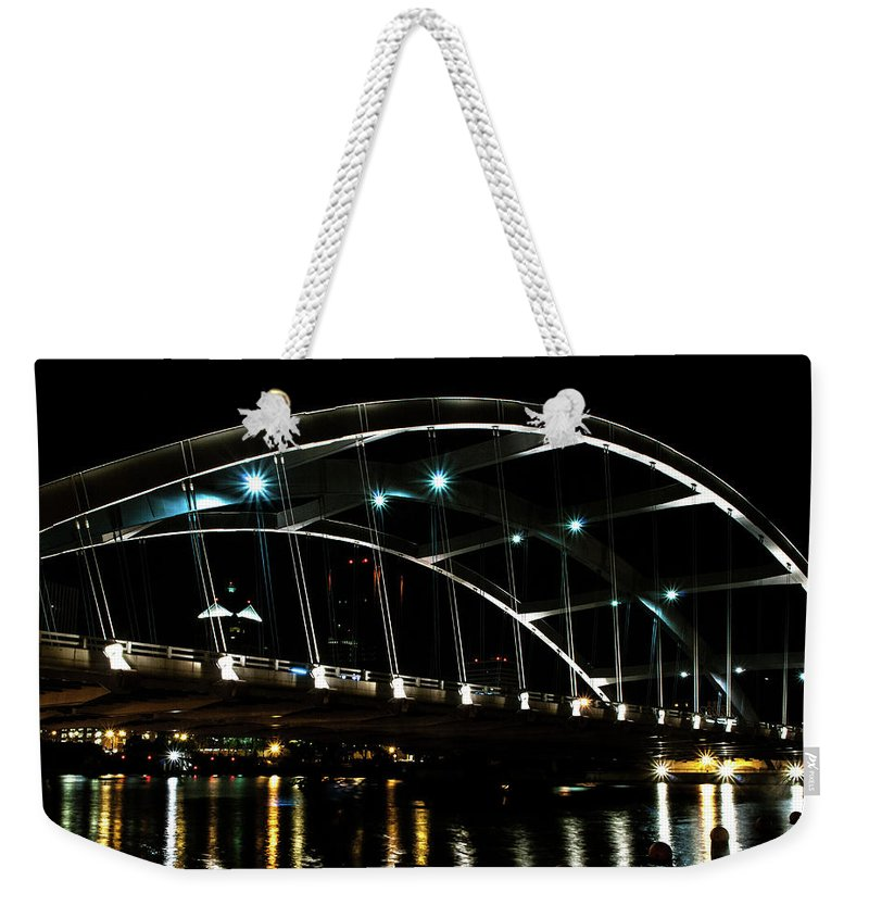 Optical Playground By Mp Ray Weekender Tote Bag featuring the photograph The Freddie-sue Bridge by Optical Playground By MP Ray