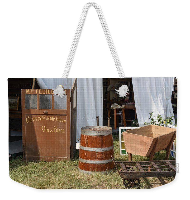 Round Top Weekender Tote Bag featuring the photograph The French Visitor by JG Thompson