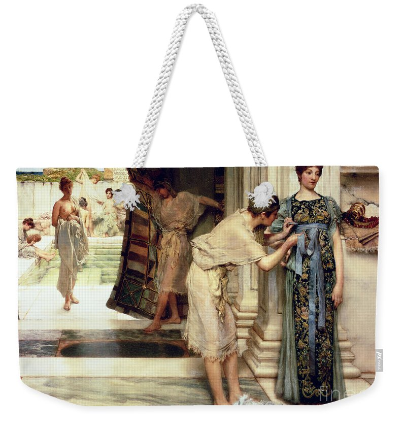 The Weekender Tote Bag featuring the painting The Frigidarium by Sir Lawrence Alma-Tadema