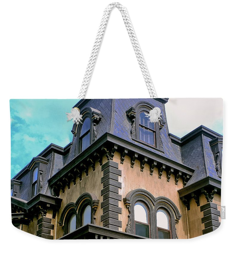 The Fulton Mansion Weekender Tote Bag featuring the photograph The Fulton Mansion by Methune Hively