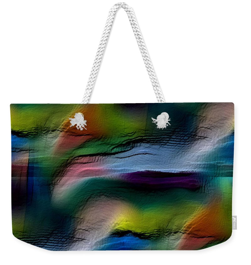 Abstract Weekender Tote Bag featuring the digital art The Future Looks Bright by Ruth Palmer