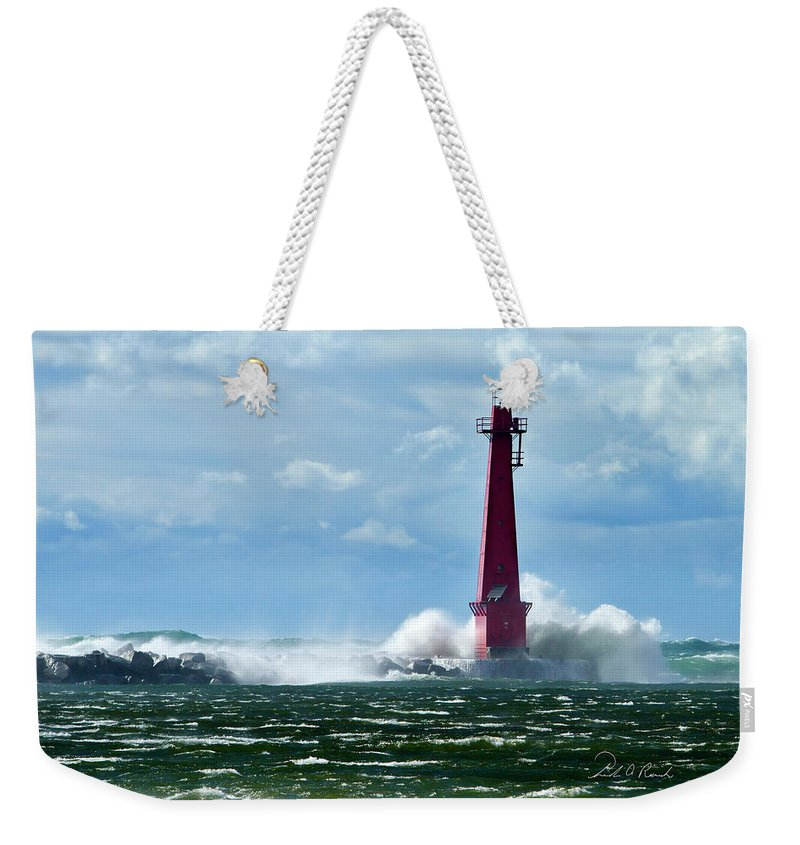Color Weekender Tote Bag featuring the photograph The Gale Of October by Frederic A Reinecke