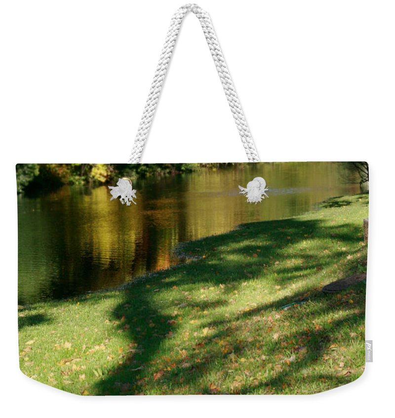 Fall Weekender Tote Bag featuring the photograph The Game Of Shadows by Masha Batkova