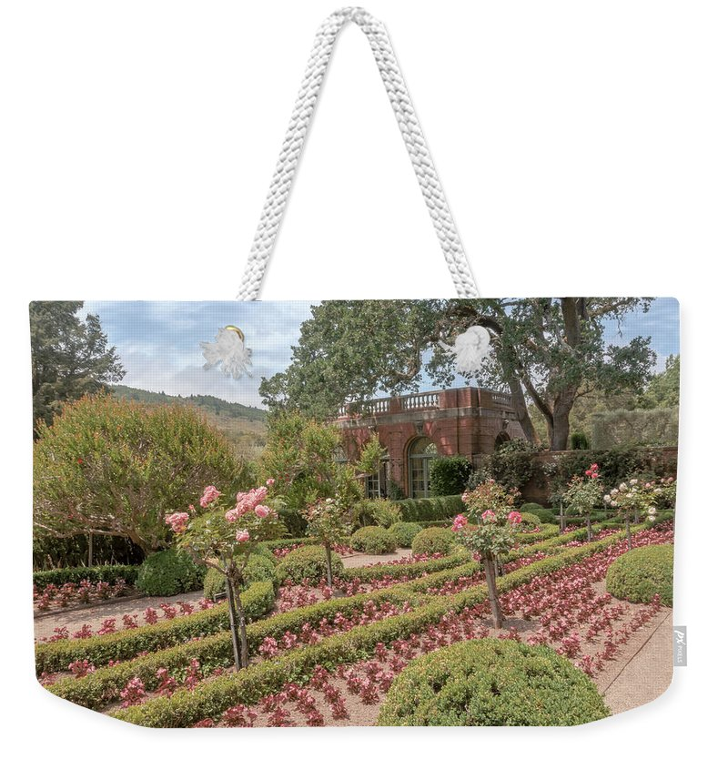 Filoli Weekender Tote Bag featuring the photograph The Garden House by Susan Rissi Tregoning