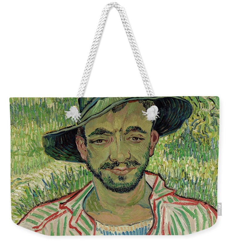 The Gardener Weekender Tote Bag featuring the painting The Gardener, Young Peasant by Vincent van Gogh