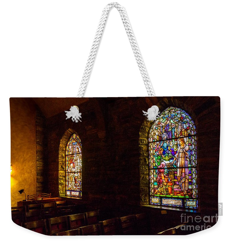Bill Norton Weekender Tote Bag featuring the photograph The Garrett Windows by William Norton
