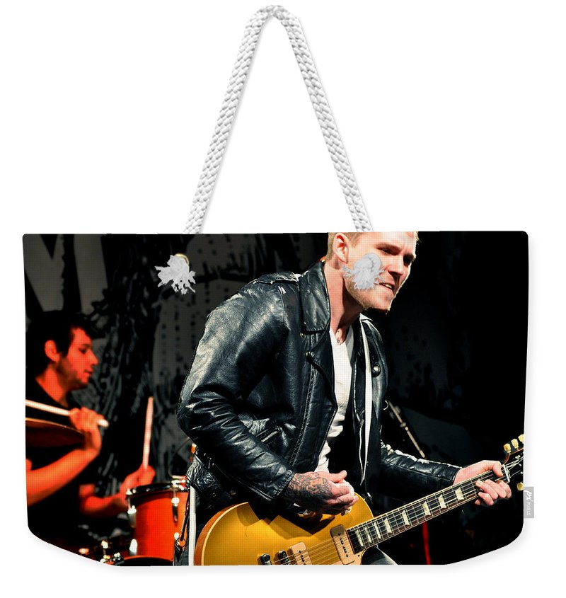 Brian Fallon Weekender Tote Bag featuring the photograph The Gaslight Anthem by Jeff Ross