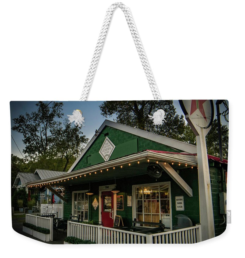 Fine Art Weekender Tote Bag featuring the photograph The General Store by Michael Baranowski