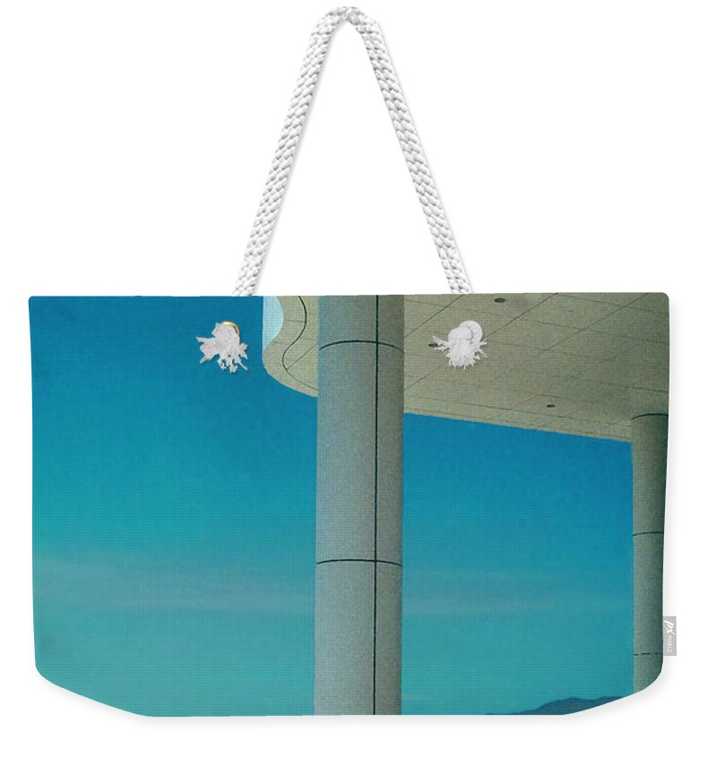Architecture Weekender Tote Bag featuring the photograph The Getty Panel 2 Of Triptyck by Steve Karol