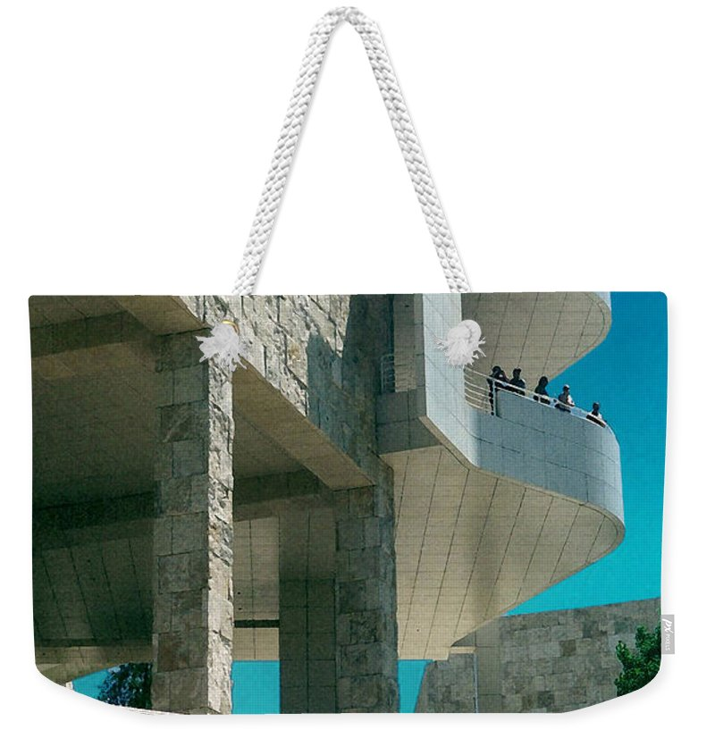 Architecture Weekender Tote Bag featuring the photograph The Getty Panel Three From Triptych by Steve Karol