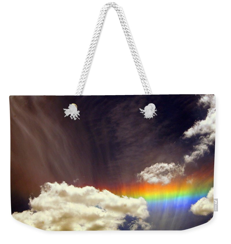 Nature Weekender Tote Bag featuring the photograph The Gift by Linda Sannuti
