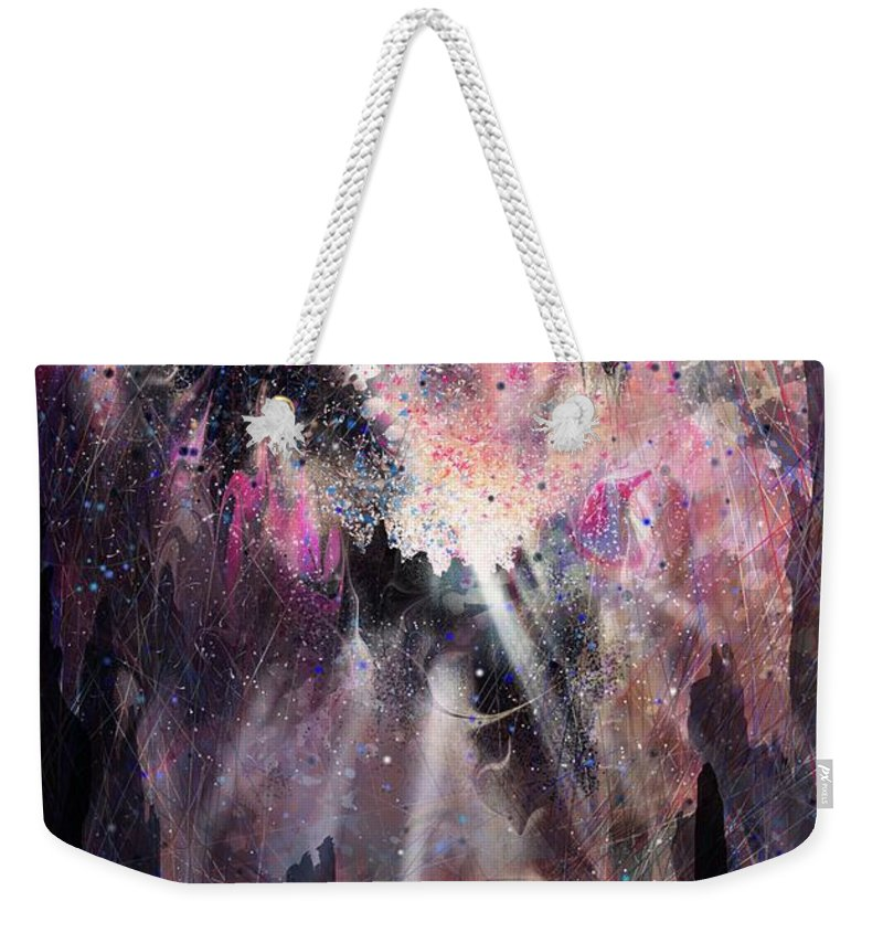 Landscape Weekender Tote Bag featuring the digital art The Gift by William Russell Nowicki