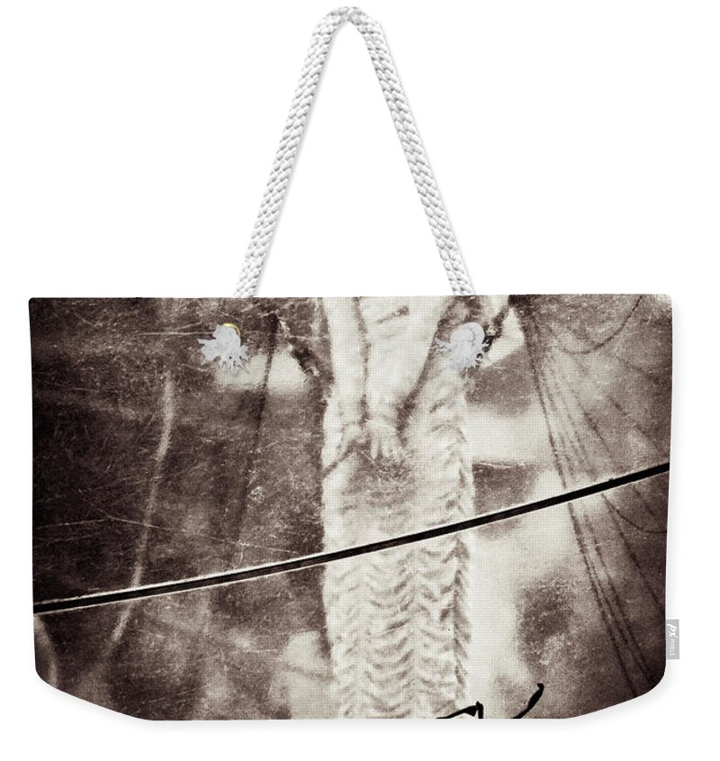Girl Weekender Tote Bag featuring the photograph The Girl In The Bubble by Dave Bowman