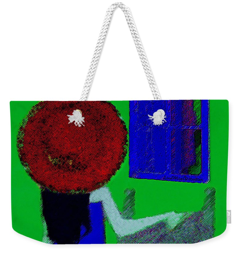 Art Weekender Tote Bag featuring the digital art The Girl In The Mirror by Miss Pet Sitter