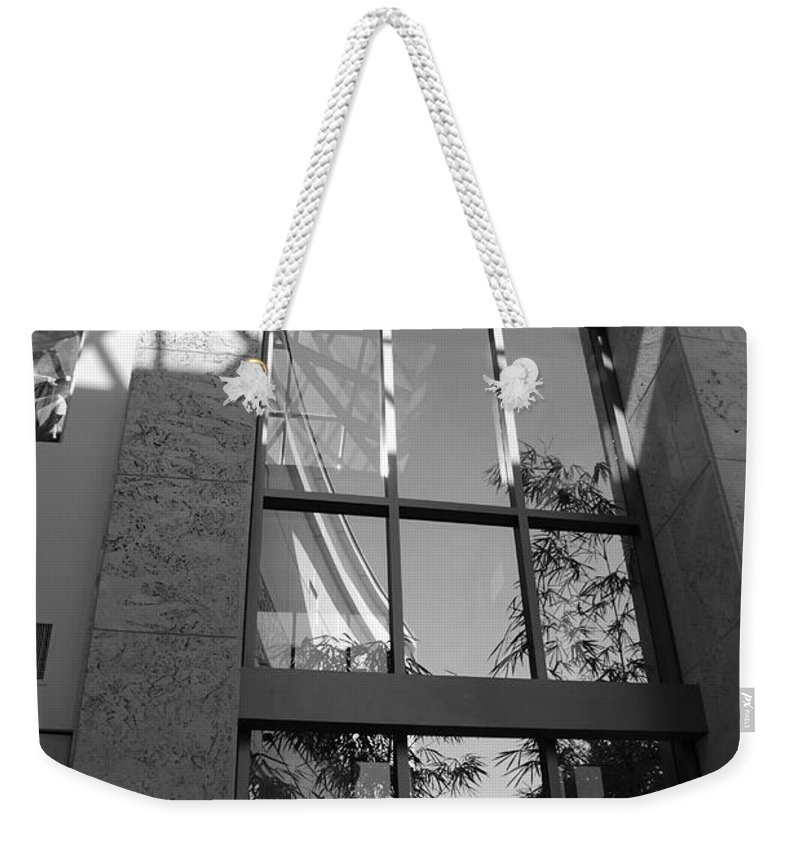 Sun Weekender Tote Bag featuring the photograph The Glass Window by Rob Hans