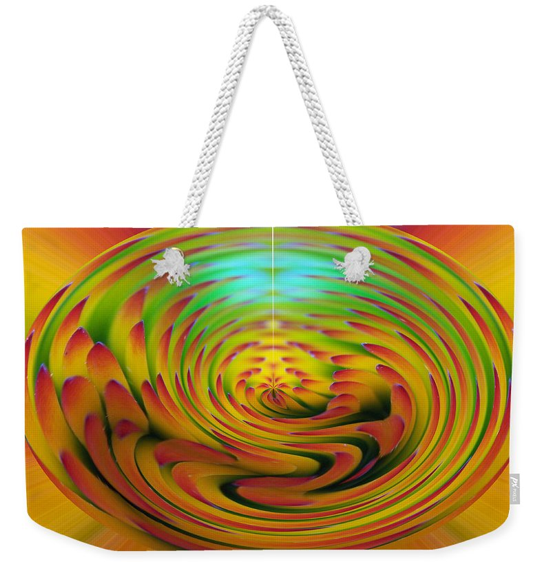 Abstracts Weekender Tote Bag featuring the digital art The Globe by Ernie Echols