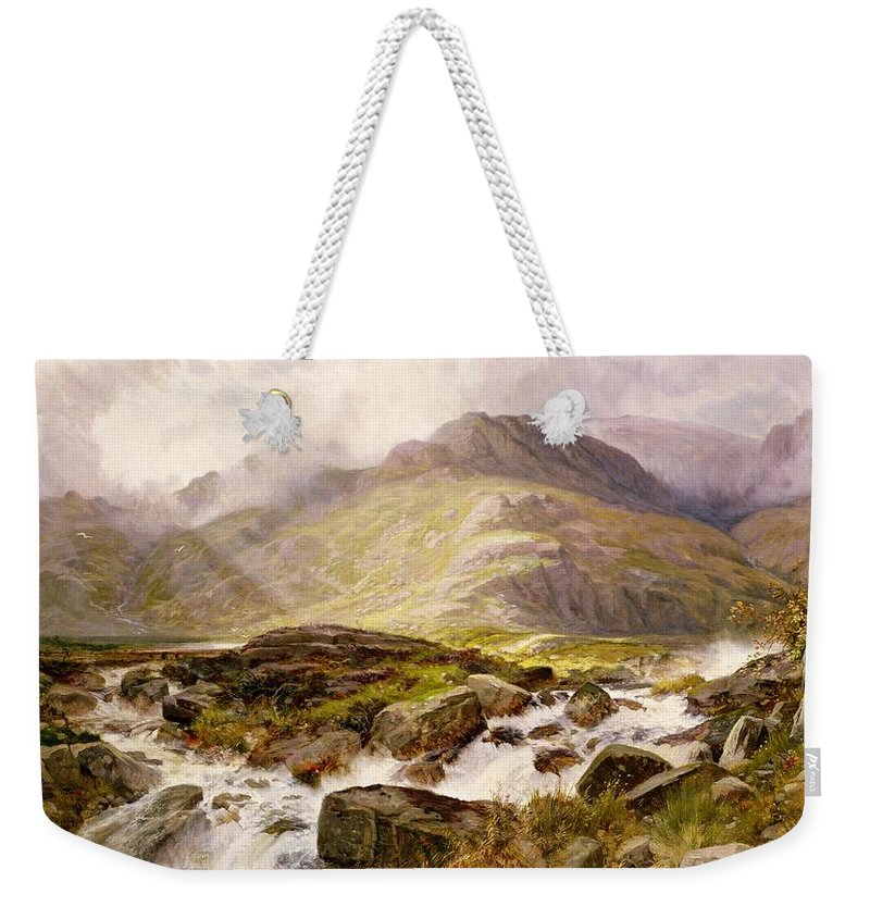 The Weekender Tote Bag featuring the painting The Glyder Fawr by Edwin Pettitt