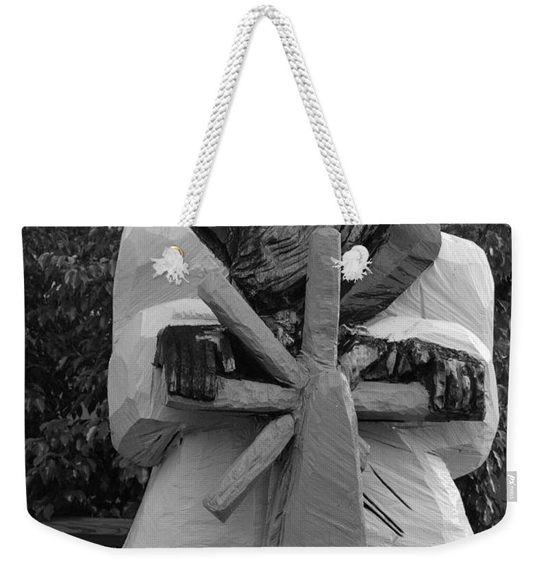 Black And White Weekender Tote Bag featuring the photograph The Gordon Fisherman by Rob Hans