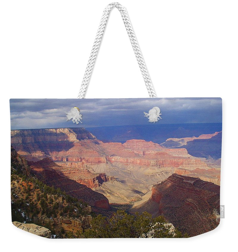 Grand Canyon Weekender Tote Bag featuring the photograph The Grand Canyon by Marna Edwards Flavell