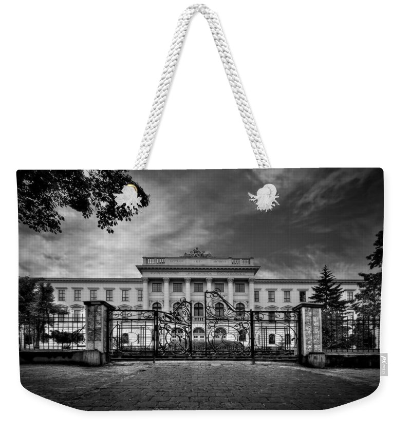 Gate Weekender Tote Bag featuring the photograph The Grand Entrance by Evelina Kremsdorf