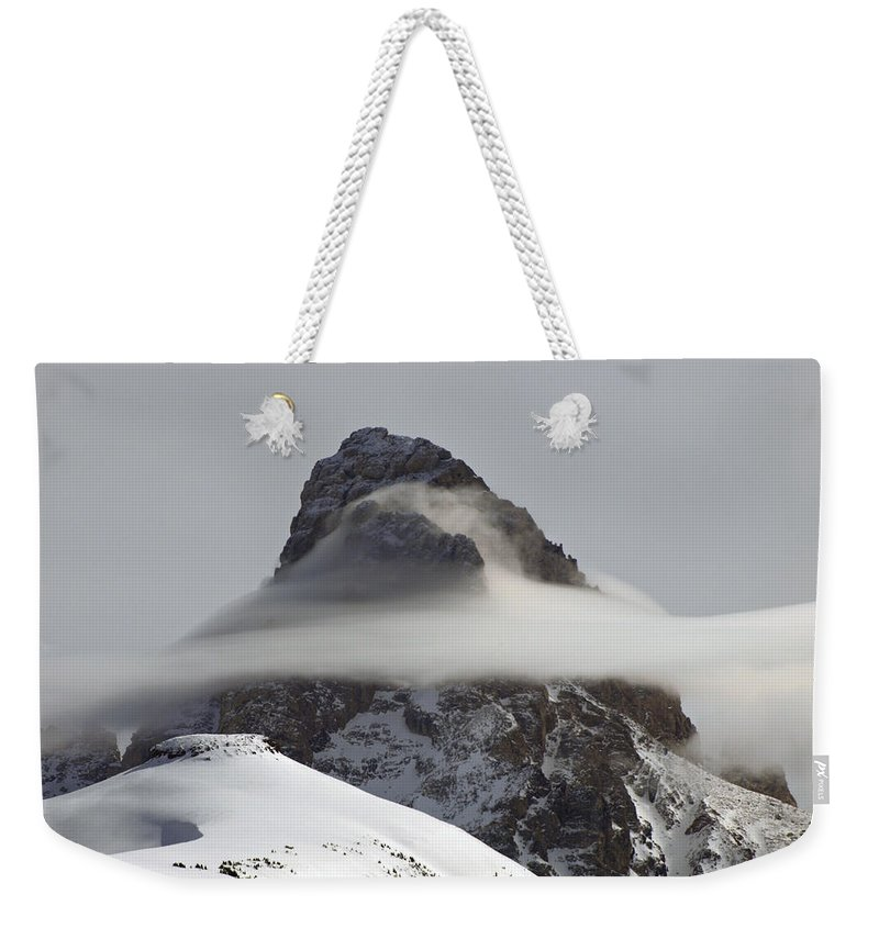 Landscape Weekender Tote Bag featuring the photograph The Grand Mist by DeeLon Merritt