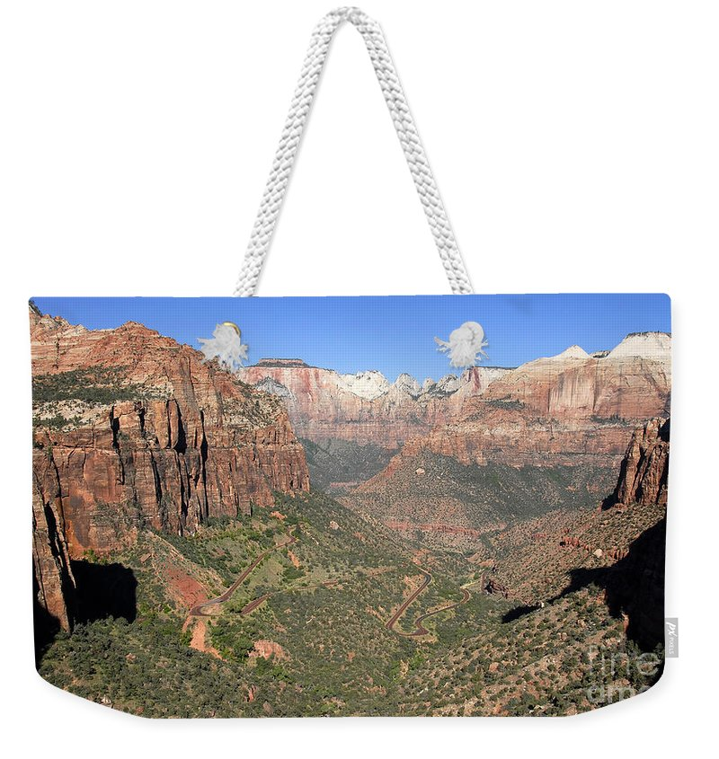 Fine Art Photography Weekender Tote Bag featuring the photograph The Great Canyon Of Zion by David Lee Thompson