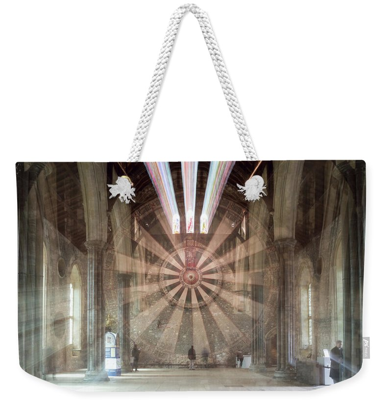6x4 Weekender Tote Bag featuring the photograph The Great Hall, Winchester Castle, Hampshire Zoom Burst by Jacek Wojnarowski