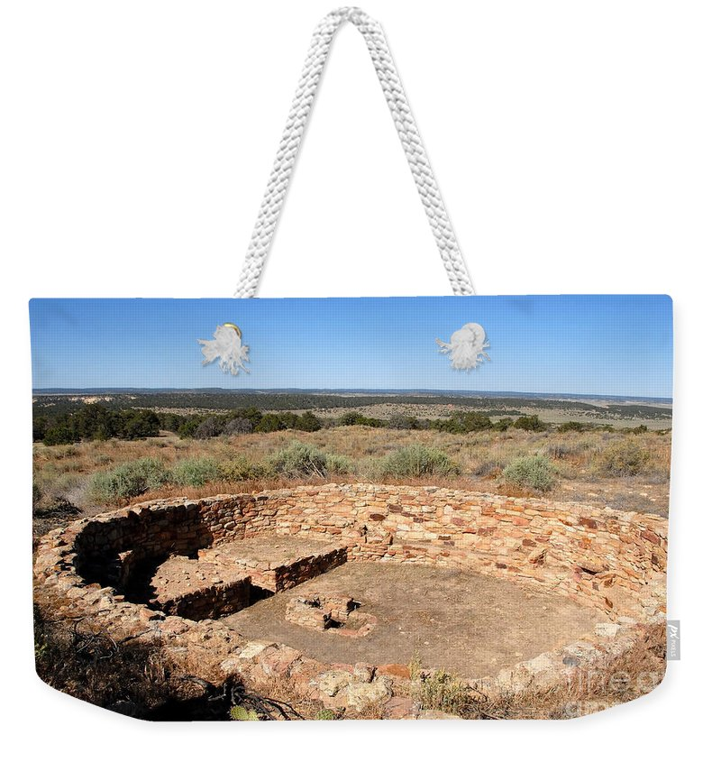 Great Kiva Weekender Tote Bag featuring the photograph The Great Kiva by David Lee Thompson