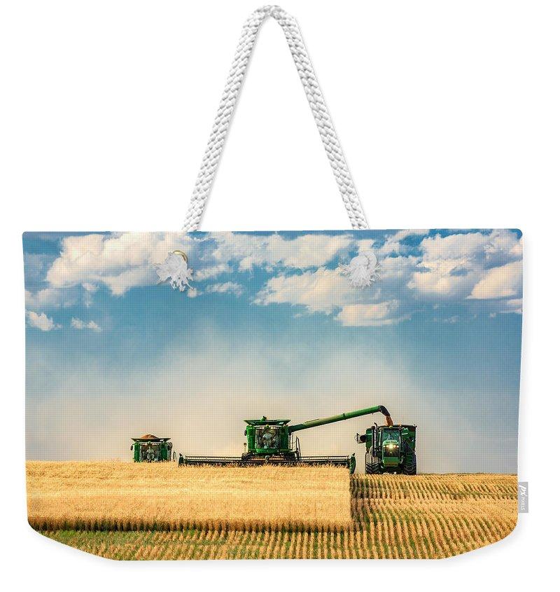 Color Field Weekender Tote Bags