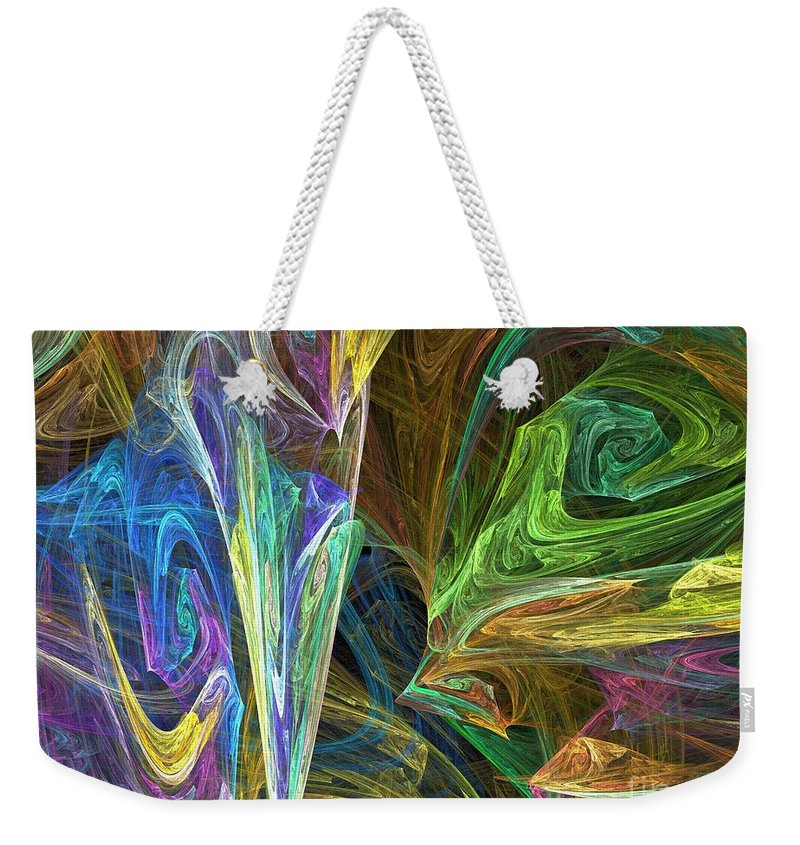 Fractals Weekender Tote Bag featuring the digital art The Groove by Richard Rizzo