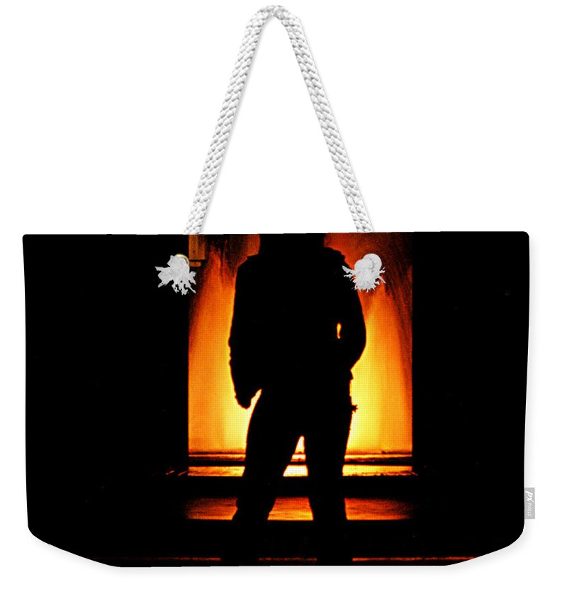 Clay Weekender Tote Bag featuring the photograph The Guardian by Clayton Bruster